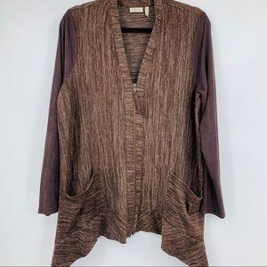 LOGO women's sweater cardigan heathered full zip